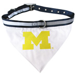 Doggie Nation Collegiate Michigan Wolverines Collar Bandana - Large