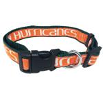 Doggie Nation Collegiate Miami Hurricanes Collar - Large