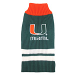 Doggie Nation Collegiate Miami Hurricanes Sweater - Extra Small