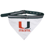 Doggie Nation Collegiate Miami Hurricanes Collar Bandana - Large