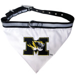 Doggie Nation Collegiate Missouri Tigers Collar Bandana - Large