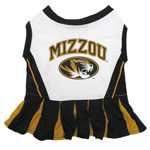 Doggie Nation Collegiate Missouri Tigers Cheerleader - Extra Small
