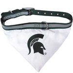 Doggie Nation Collegiate Michigan State Spartans Collar Bandana - Large