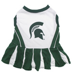 Doggie Nation Collegiate Michigan State Spartans Cheerleader - Extra Small