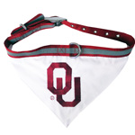 Doggie Nation Collegiate Oklahoma Sooners Collar Bandana - Large