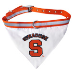 Doggie Nation Collegiate Syracuse Orange Collar Bandana - Large