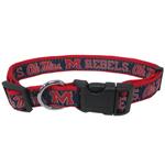 Doggie Nation Collegiate Ole Mississippi Rebels Collar - Large