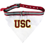 Doggie Nation Collegiate USC Trojans Collar Bandana - Large