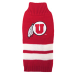 Doggie Nation Collegiate Utah Utes Sweater - Extra Small
