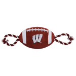 Doggie Nation Collegiate Wisconsin Nylon Football