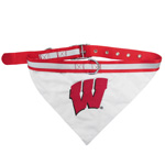 Doggie Nation Collegiate Wisconsin Badgers Collar Bandana - Large