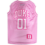 Doggie Nation Collegiate Duke Blue Devils University Pink Basketball Jersey - Large