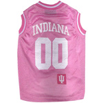 Doggie Nation Collegiate Indiana Hoosiers Pink Basketball Jersey - Extra Small